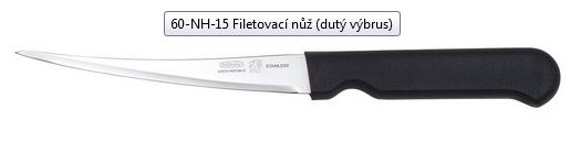 Filetovací nůž Mikov KITCHEN 60-NH-15 (dutý výbrus)