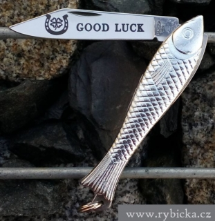 "Pocket folding knife - FISHLET Mikov 130-NZn-1 ""GOOD LUCK"""